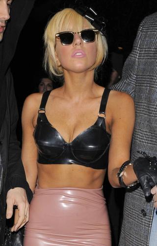 Wallpaper sexy blonde Lady Gaga