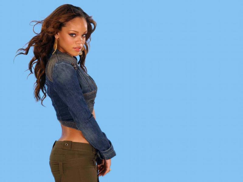Wallpaper Jeans - tenue de jeune Rihanna