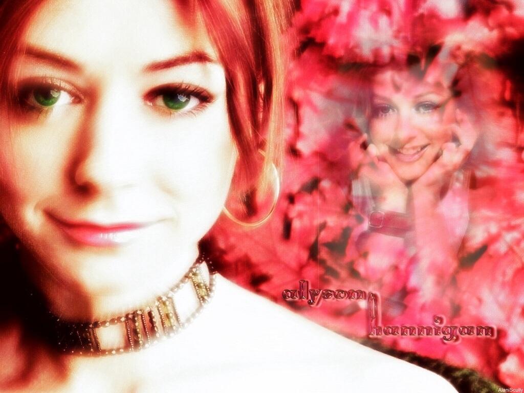 Wallpaper Alyson Hannigan belle femme