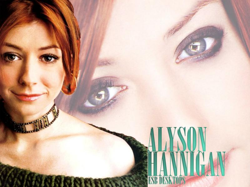 Wallpaper Alyson Hannigan regard