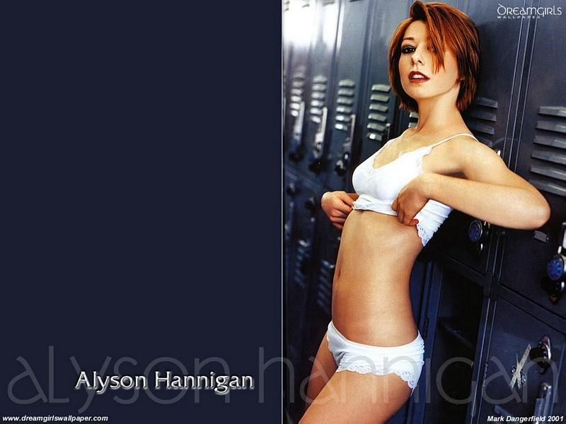 Wallpaper Alyson Hannigan tenue legere