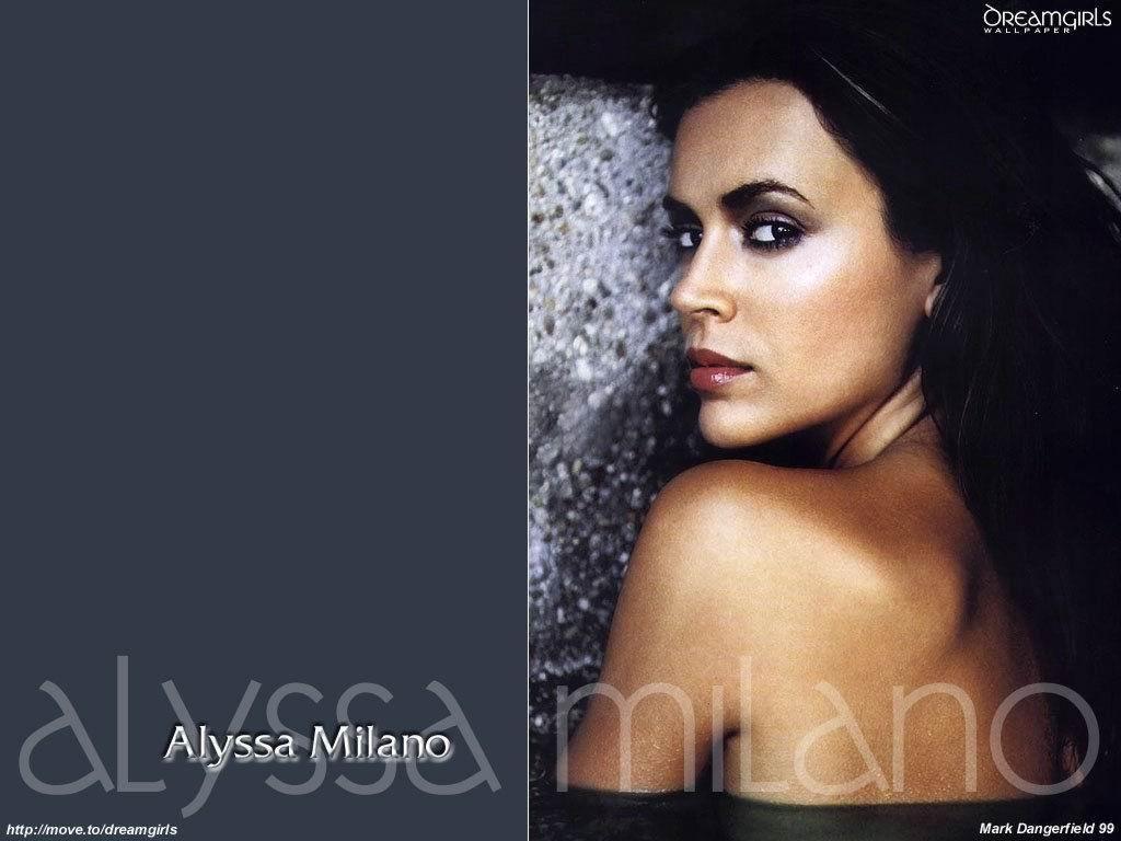 Wallpaper belle fille Alyssa Milano