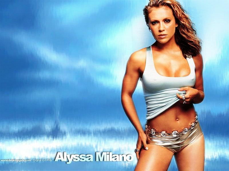 Wallpaper chaleur Alyssa Milano