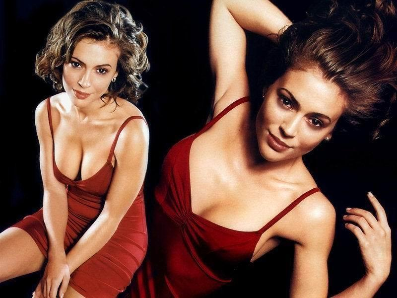 Wallpaper decolte Alyssa Milano
