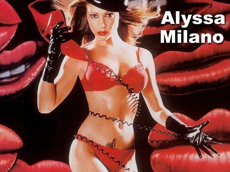 Wallpaper Alyssa Milano dominatrice
