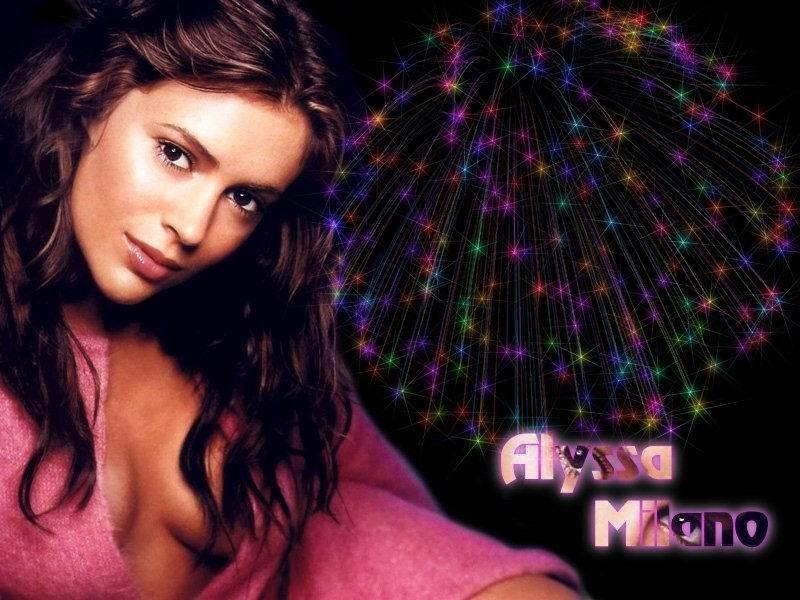 Wallpaper Alyssa Milano feu d artifice