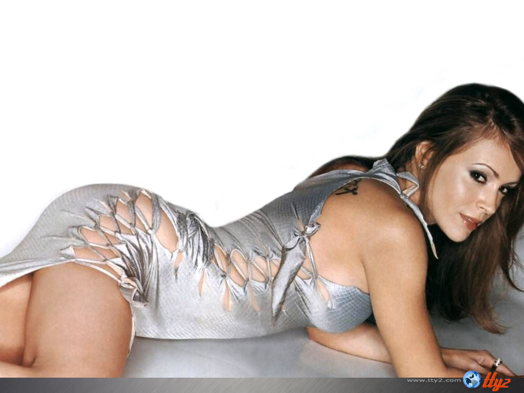 Wallpaper sexy Alyssa Milano
