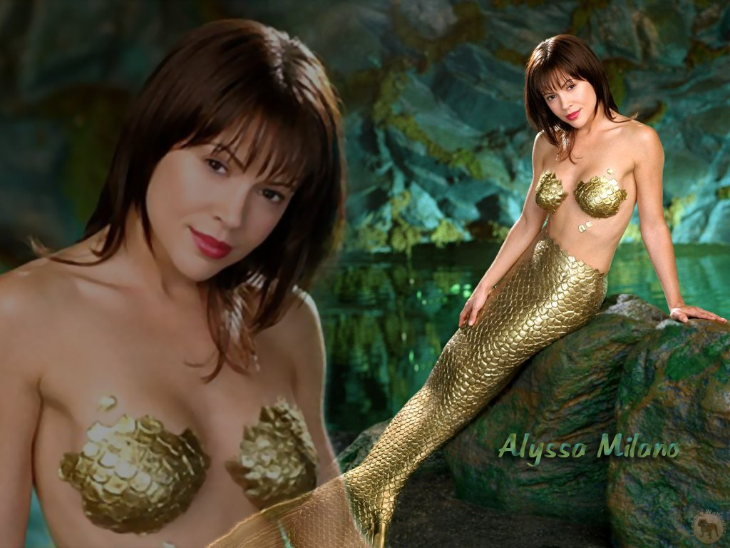Wallpaper sirene Alyssa Milano