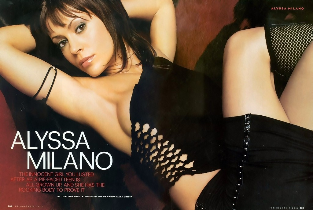 Wallpaper star Alyssa Milano