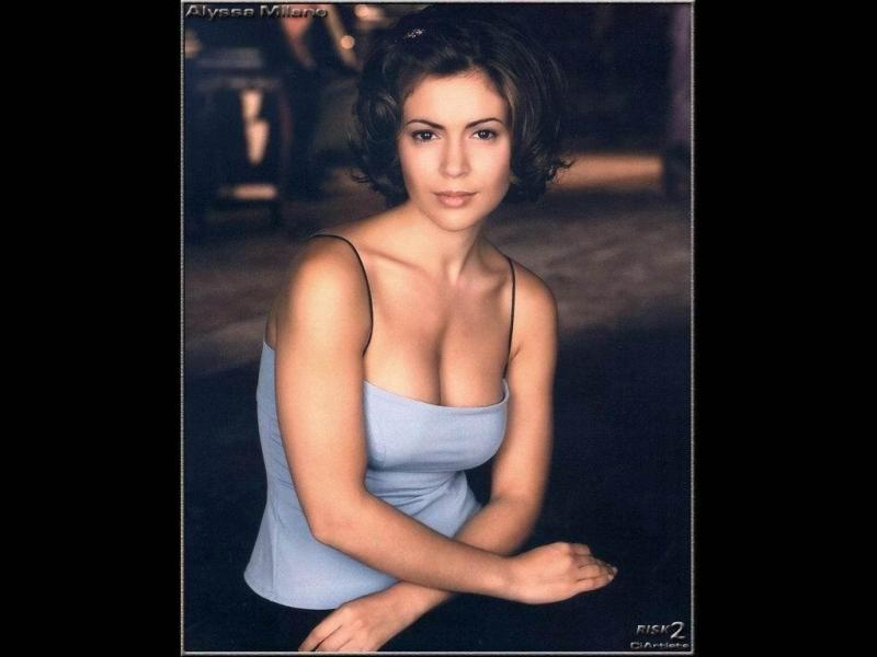 Wallpaper Alyssa Milano belle fille