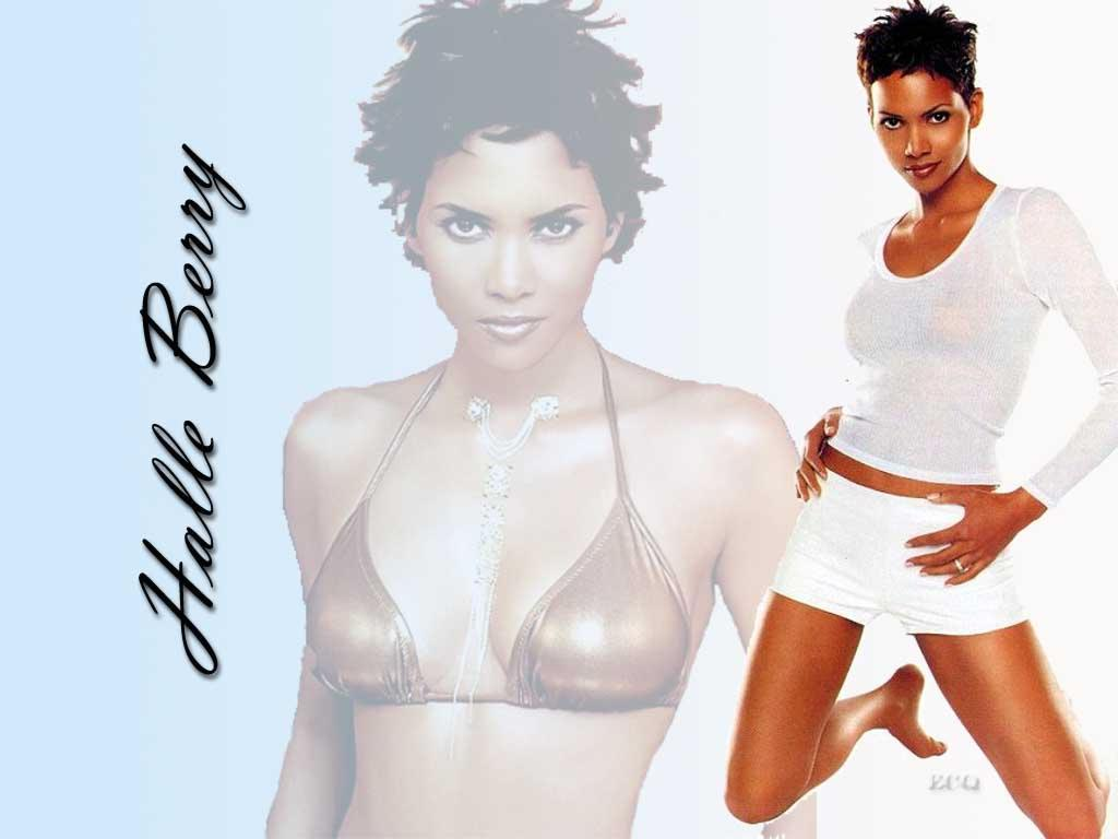 Wallpaper Halle Berry belle brune