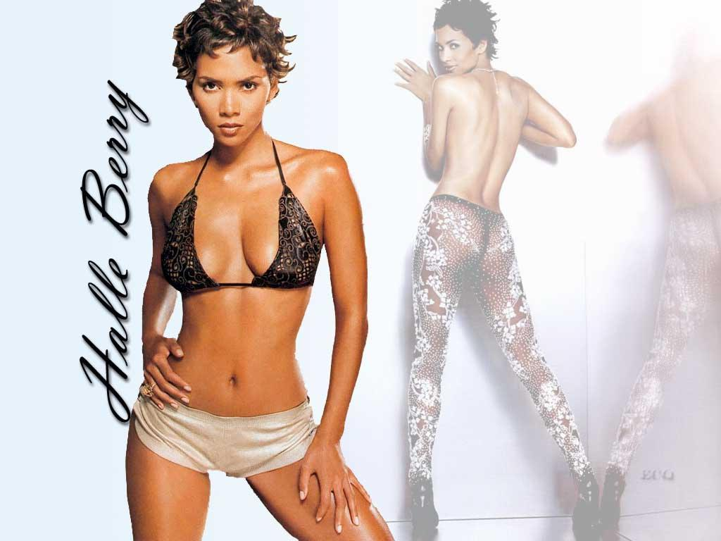 Wallpaper Halle Berry tenue legere