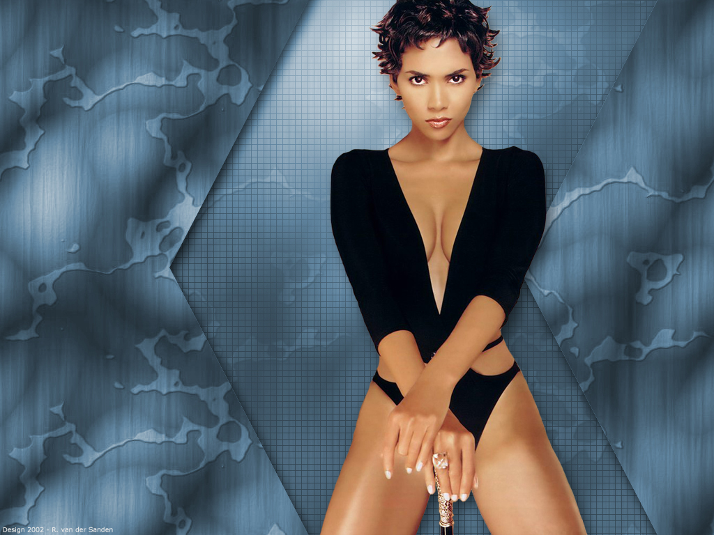 Wallpaper Halle Berry tenue sexy