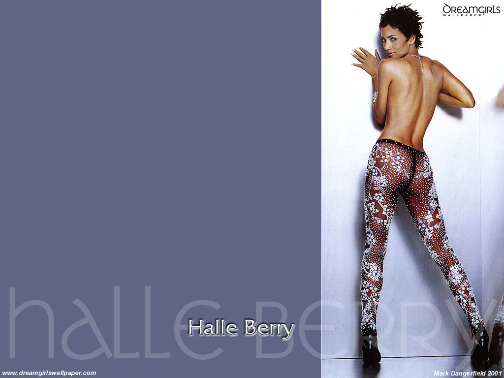 Wallpaper Halle Berry tenue transparente