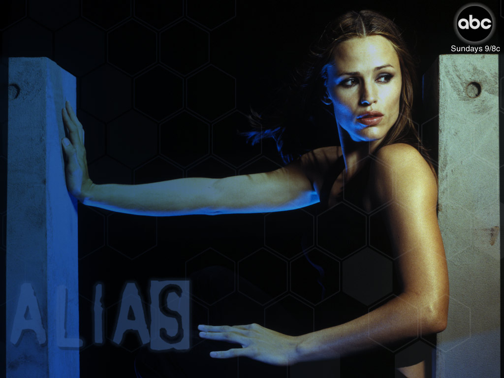 Wallpaper Alias Spy Pose Jennifer Garner