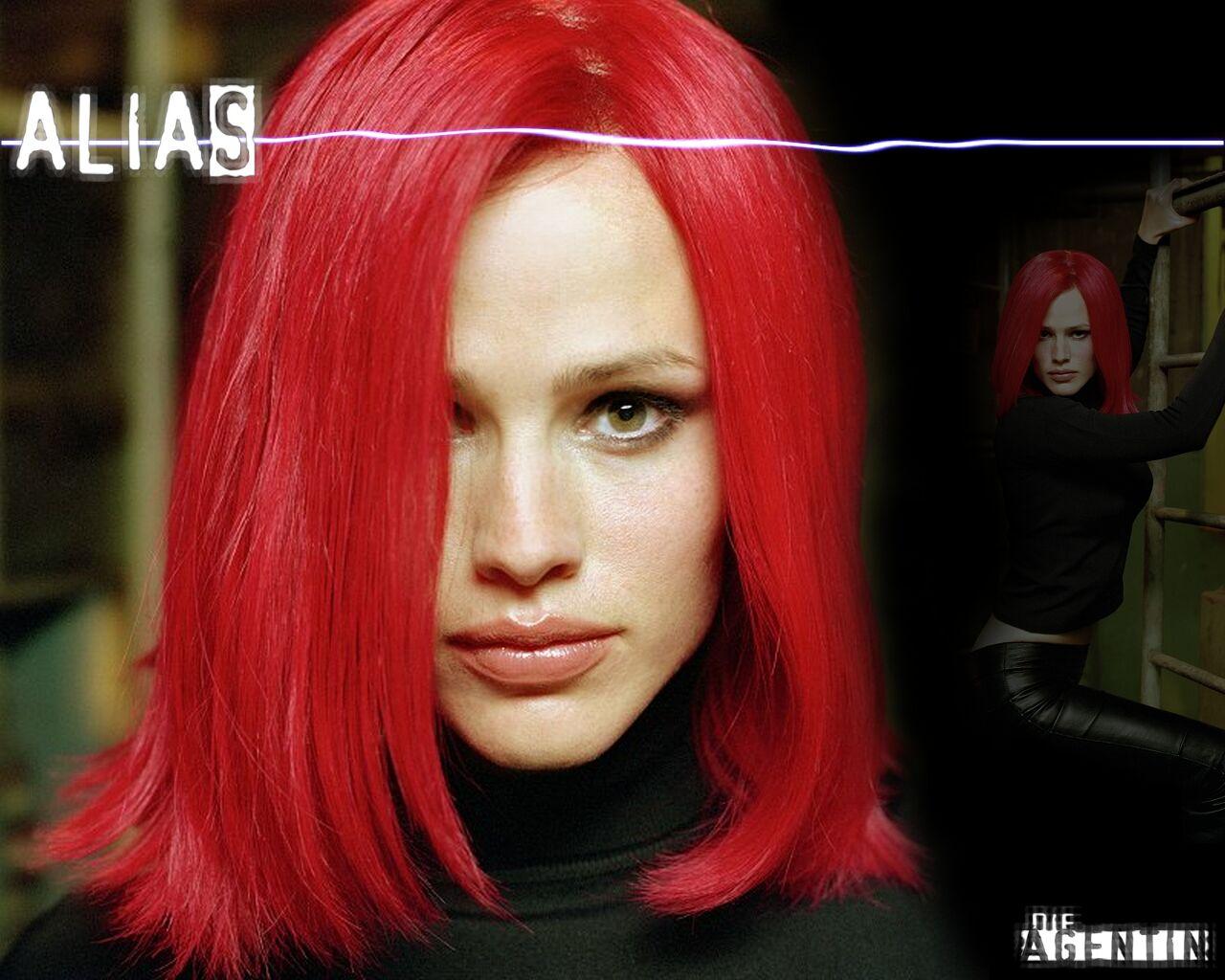 Wallpaper Jennifer Garner Alias cheuveux rouges