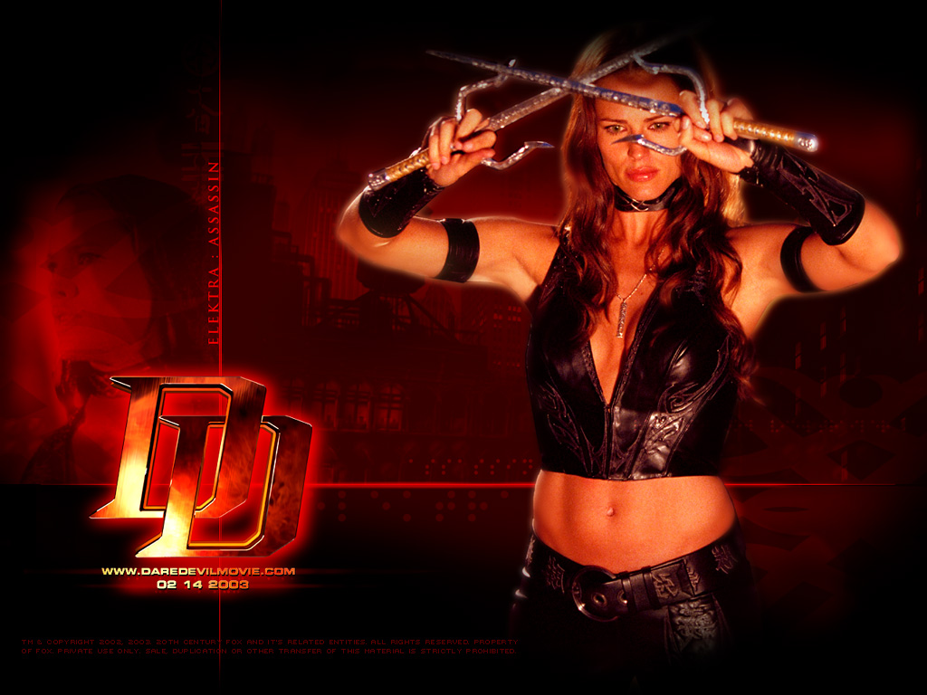 Wallpaper Jennifer Garner Electra Daredevil