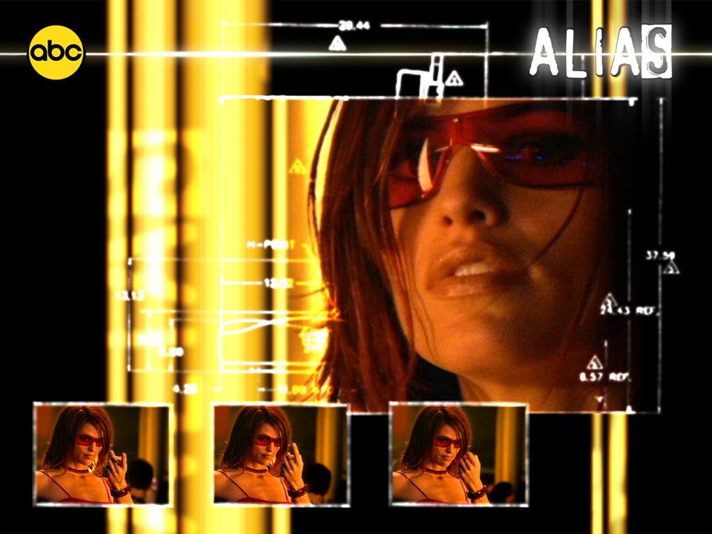 Wallpaper Jennifer Garner Alias Red Glasses
