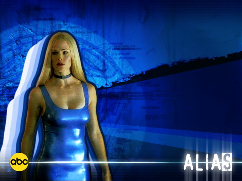 Wallpaper Alias robe bleu Jennifer Garner