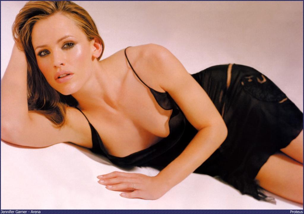 Wallpaper Black Dress Jennifer Garner