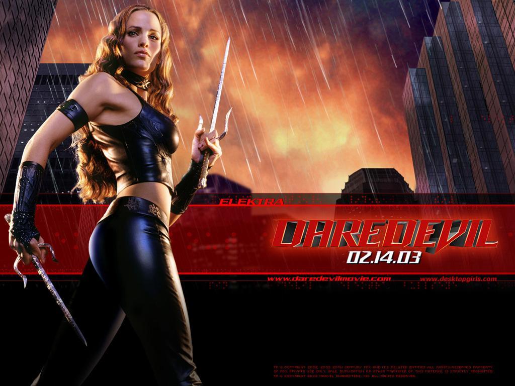 Wallpaper Electra Daredevil Jennifer Garner