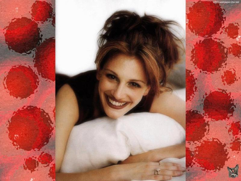 Wallpaper Julia Roberts belle fille