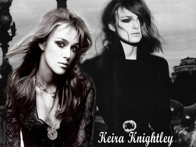 Wallpaper Keira Knightley noir et blanc