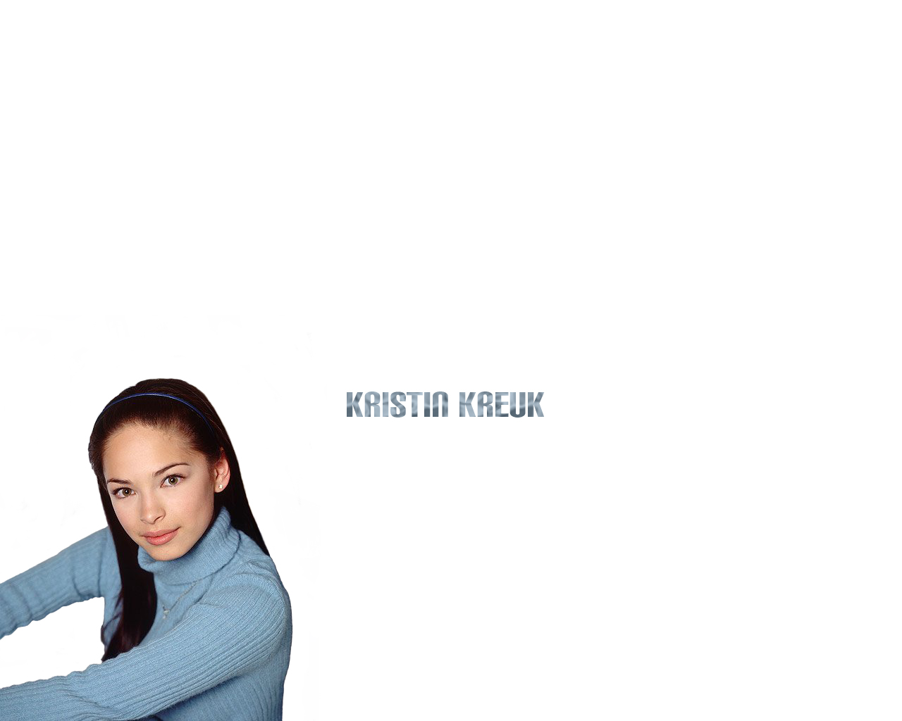 Wallpaper Kristin Kreuk Lana Blue Sweater