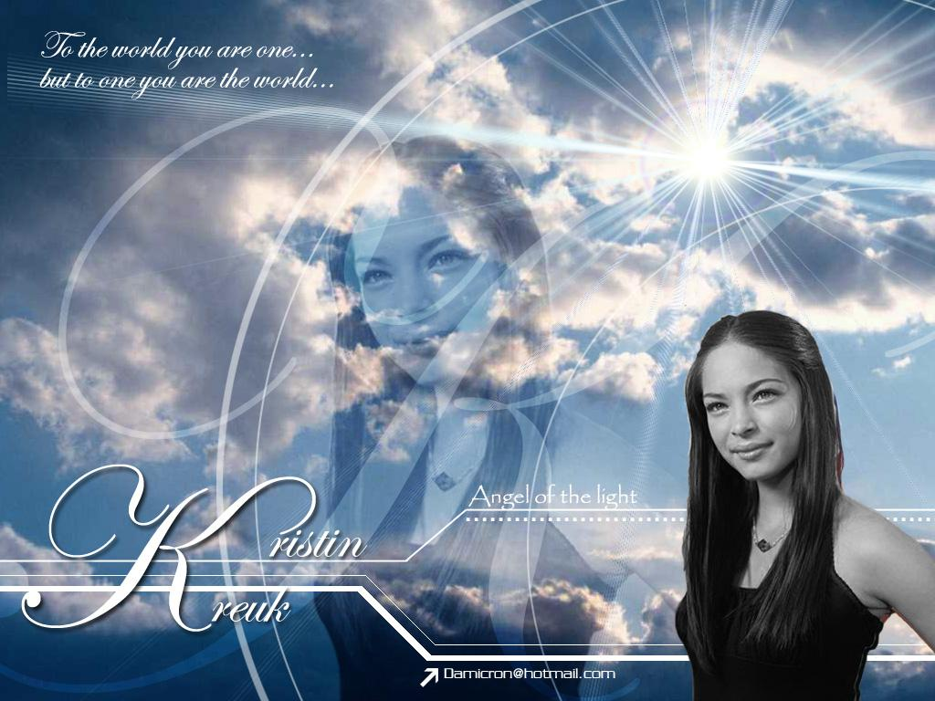Wallpaper Kristin Kreuk Angelic