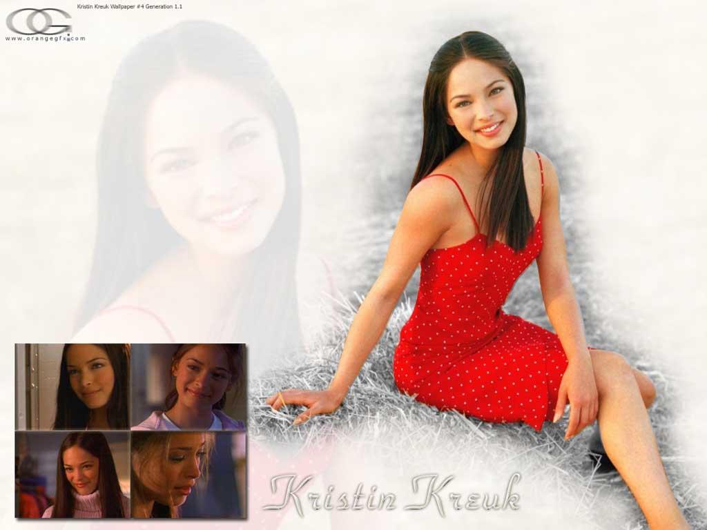 Wallpaper Kristin Kreuk Lana robe rouge
