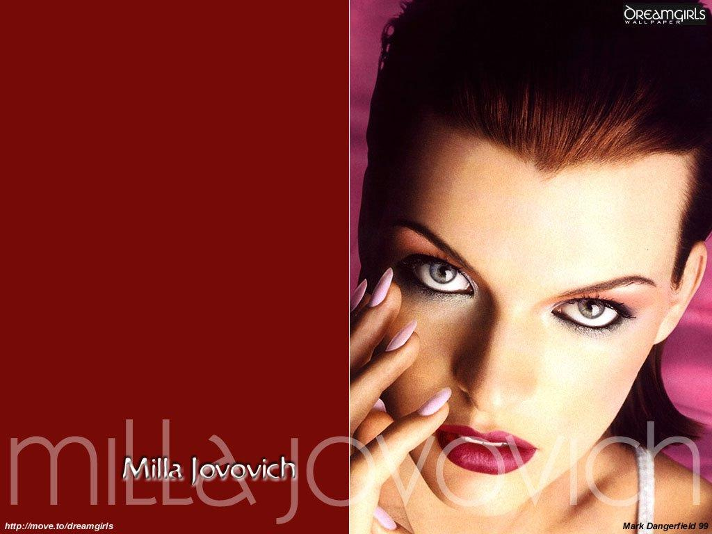 Wallpaper Milla Jovovich bien maquillee