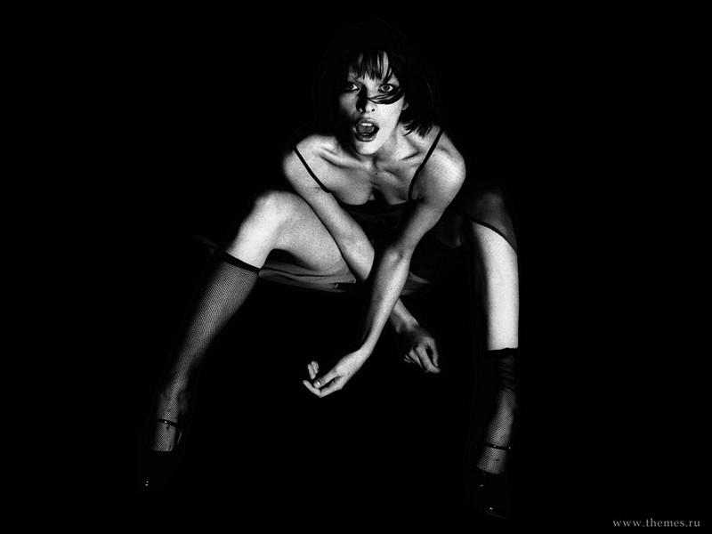 Wallpaper Milla Jovovich choquee