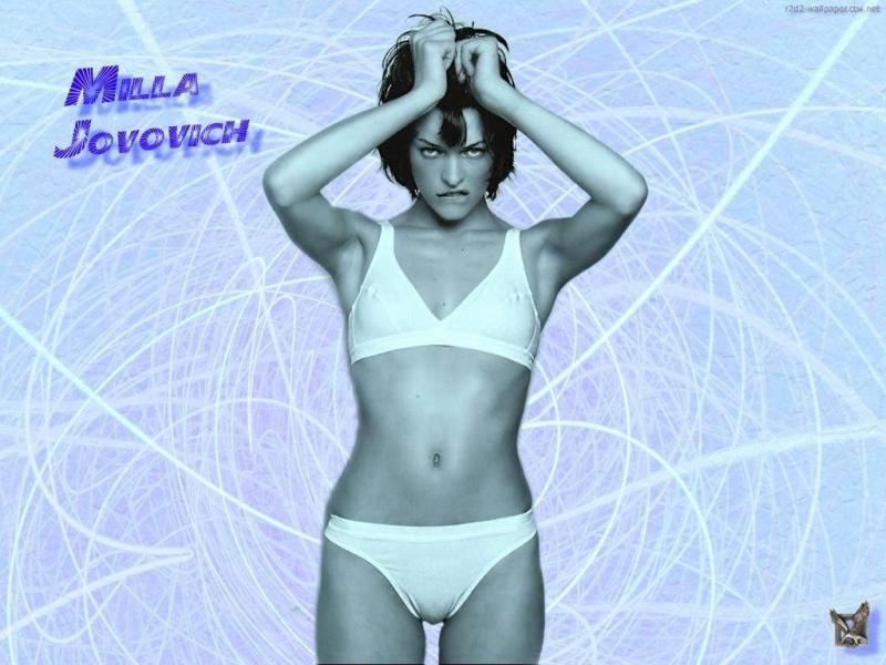 Wallpaper tire par les cheveux Milla Jovovich