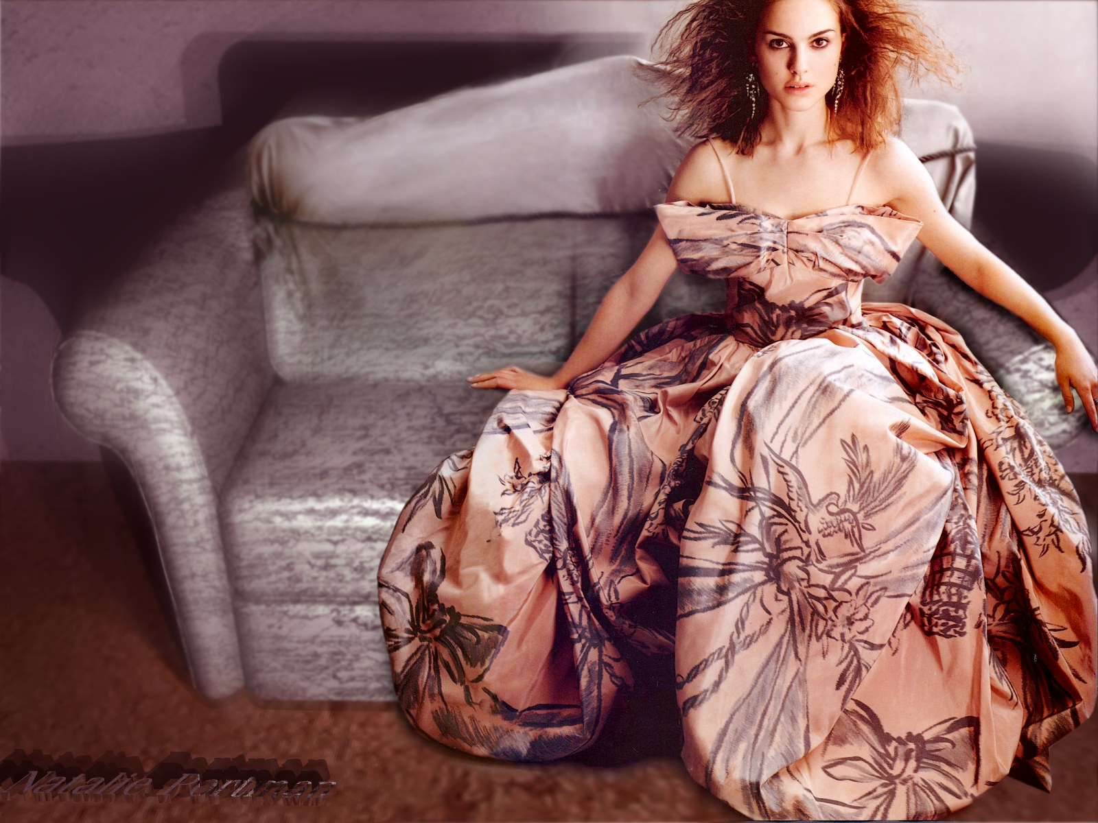 Wallpaper Natalie Portman grande robe
