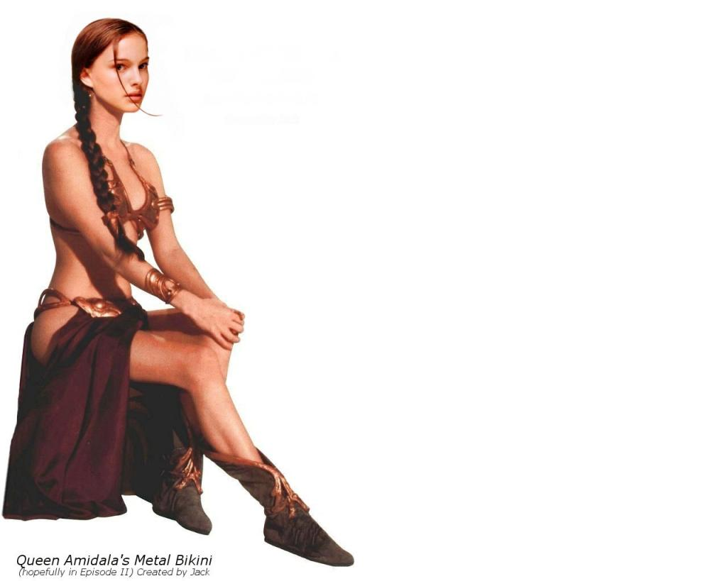 Wallpaper Natalie Portman Queen Amidala Metal bikini