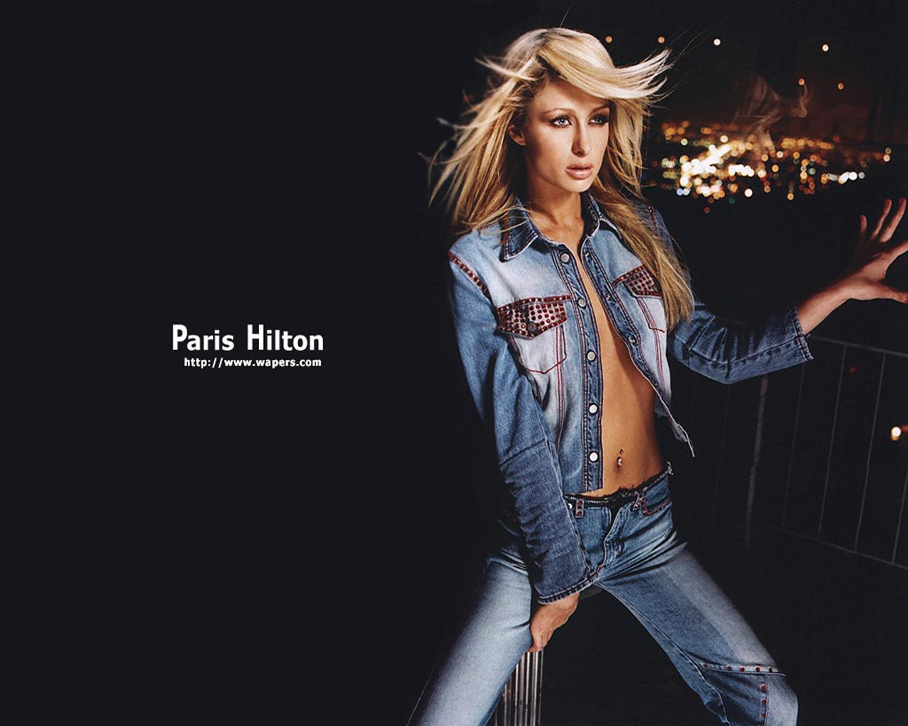 Wallpaper geans Paris Hilton