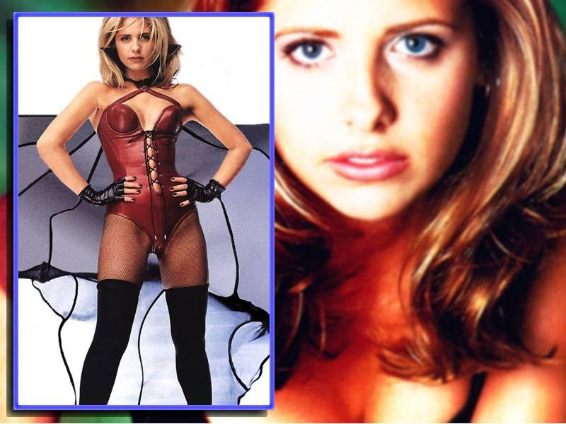 Wallpaper Sarah Michelle Gellar dominatrice