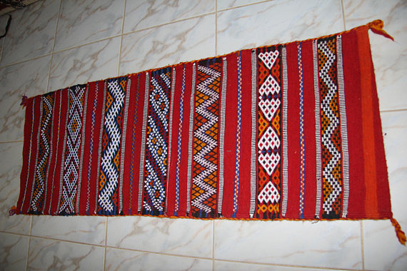Berber Moroccan Cushion red