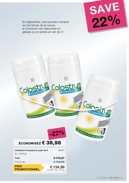 COLOSTRUM COMPACT EN PACK DE 3